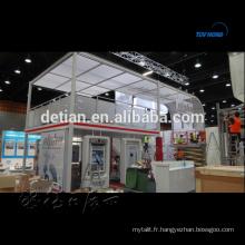 système de stand d'exposition de salon de deux étages double cabine de plate-forme