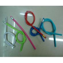 Lápis de lápis flexível de diâmetro de 1cm com logotipo de impressão