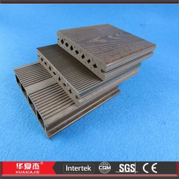 Black WPC Composite Decking Outside Patio Flooring