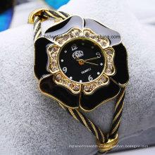 Блеск Браслет женские часы Золотой тон