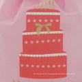 Red Cake Drawstring Birthday Gift Pouch