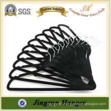 Bulk Black Plastic Clothes Velvet Hanger