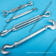 Us Type Carbon Steel Drop Forged Galvanized Turnbuckle
