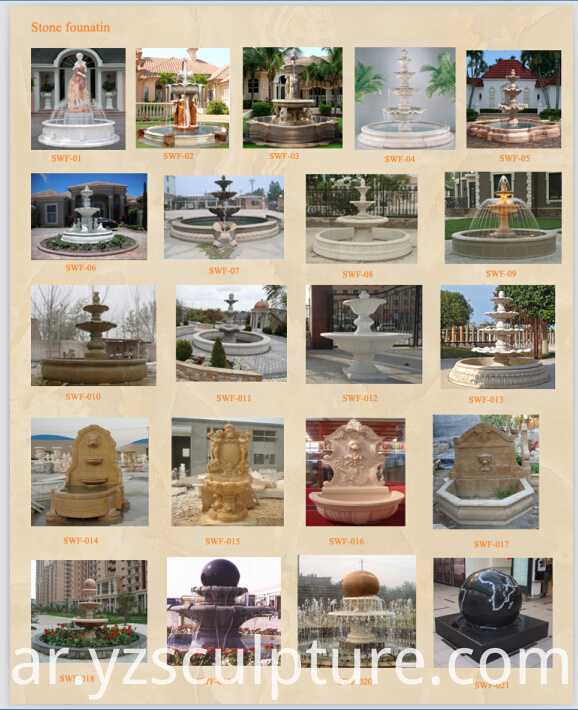 antique stone fountain