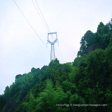 220kV Type de tête de chat Angle Steel Power Transmission Tower