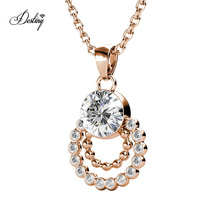 New Arrival Women Jewelry 2020 Karessa Circle Round Pendant Necklace with Premium Grade Crystal From Austria