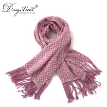 Unique Rib Knit Scarf Autumn Winter Cashmere Pashmina Scarf For Girls
