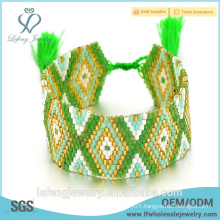 2016 new fashion jewelry green color bohemian wraps boho bracelet