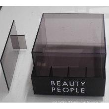 Caixa de exibição de contador de acrílico semitransparente com divisor, impressão acrílica POS Display