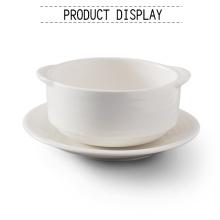 Cuenco de sopa de microondas con la manija estilo country dinnerware
