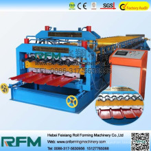 Metal roofing sheet double layer roll forming manufacturing machine