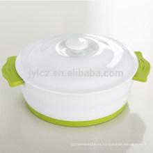 Cazuela con tapa de cerámica con mango de silicona antideslizante y base