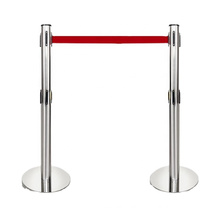 Popular Retractable Stainless Steel Queue Stanchion Pole ,Concert Crowd Control Barrier Queue Stand for Sale