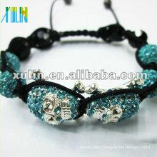 Skull beads shambala bracelet XLSBL083