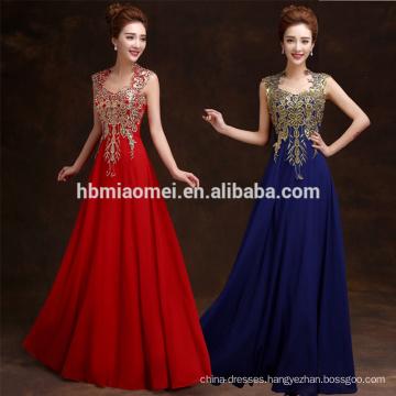 2016 suzhou Supplier Ball Gown Long Golden Night Sexy Evening Dress