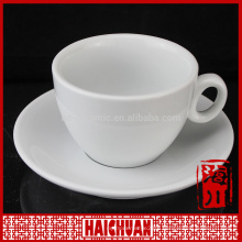 250cc bowl shape porcelain colorful tea cup and saucer with flower decor
