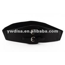 Cinturón de cintura elástica para mujer con 2 hebillas