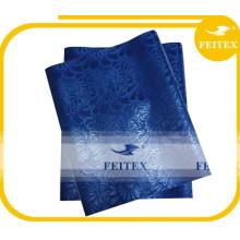 Nigeriano best seller suministro de fábrica azul sego gele / cabeza africana sego corbata / headtie en stock para vestido de niña