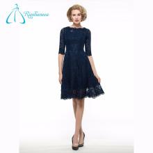 Scoop Zipper Lace Satin A-Line Mother Of The Bride Dresses Plus Size