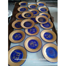 Promotional Luxury, Decorative Plate With Gold Trim