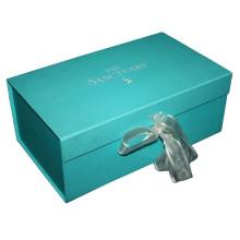 Caixa de presente de papel personalizado com fita FP255