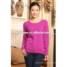 women's crewneck cashmere basic design sweater