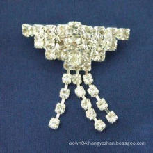 New hot design fashion simple contracted cheap rhinestone brooch