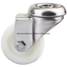 100mm Stainless Steel Bolt Hole Caster, Light Duty Caster