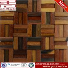producto de diseño caliente de fabricación de China azulejo de mosaico de diseño de madera sólida
