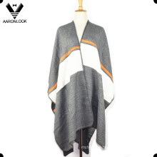 2016 Womens Fashion High Quality Striped Shawl Poncho