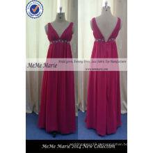 V decote aberto de volta vestidos de mulheres on-line para festa com Chiffon Red Vestido de noiva Dressing BYES-14059