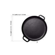 "14"" Round Cast Iron Pizza Pan with Handles"