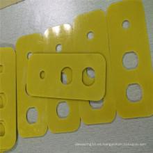 Piezas de mecanizado de placa de vidrio de fibra de epoxi amarilla