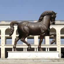 Weltberühmte Da Vinci Horse Skulptur Reproduktion (Kundenspezifische Service ist verfügbar)