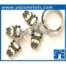 Charming dairy cattle shaped metal keychain for gift and decoration