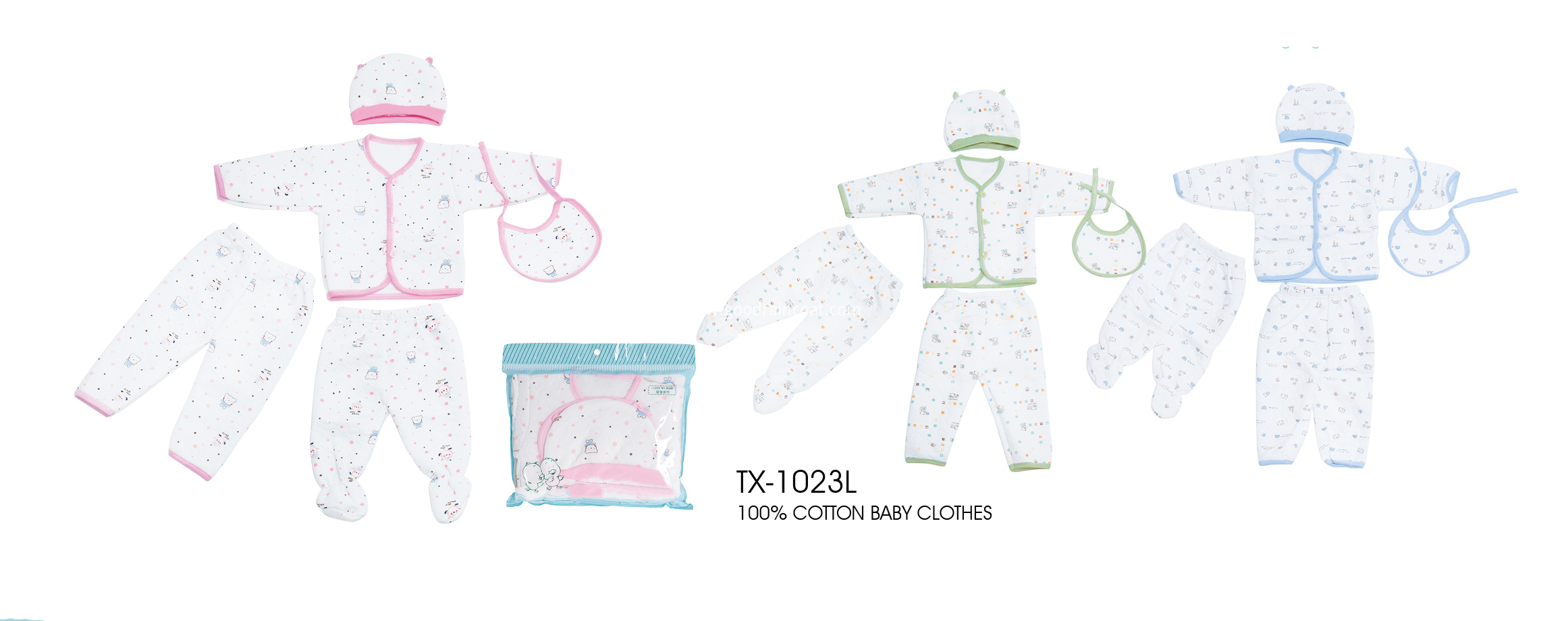 5 pcs baby clothes set