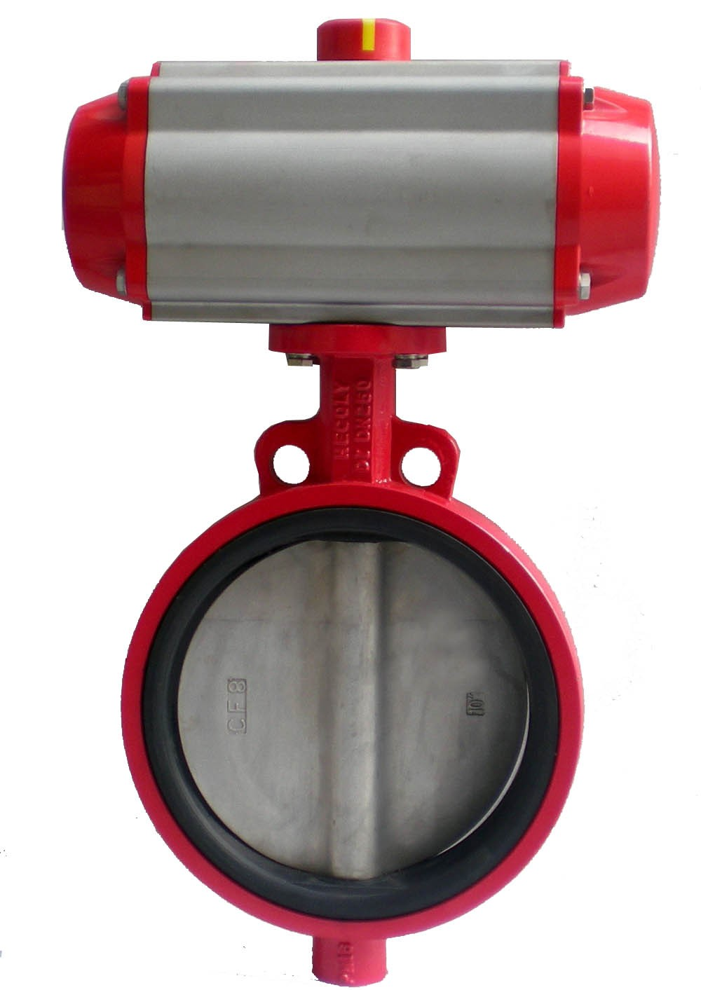 Flange Pneumatic Powder  Butterfly Valve