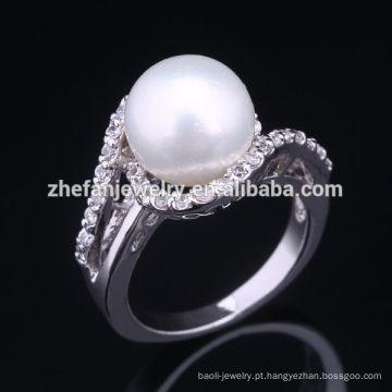 2018 venda pérola montagens 925 anel de prata pérola