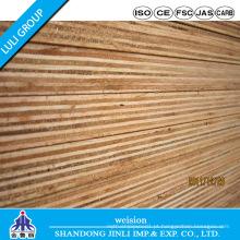 Contraplacado Phenolic WBP com núcleo de madeira e folheado Bintangor