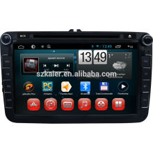 Android Quad-Core, kapazitiver Touchscreen Android Auto DVD-Player mit Wi-Fi oder 3G für Volkswagen