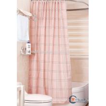 Tissu en polyester à carreaux rideau de salle de bains extra long