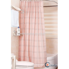 Polyester fabric plaid bathroom curtain extra long