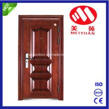 Puerta de hierro de seguridad con manija de puerta, cerradura