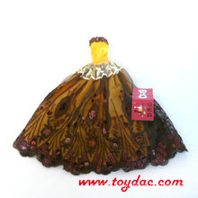 Коричневое платье для куклы Барби