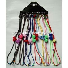 Corde perlée de chaîne de lunettes des enfants colorés, corde de lunettes de lanières