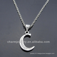 Hot sale Initial Charms CZ stone For Charm Bracelet PCC-009