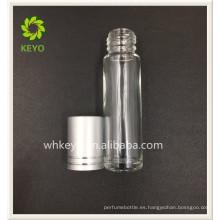 Rollo de cristal cosmético del perfume vacío coloreado claro superventas 5ml 8ml en la botella