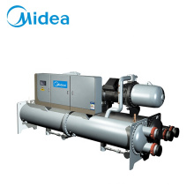 Industry channel enfriado por aire central water screw air conditioning con pump machine cooled chiller system for room