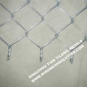 55mm Italian Style Galvanized Chain Link Fence