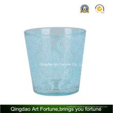 Candelero de cristal de la galjanoplastia de plata para la decoración de la vela de Tealight